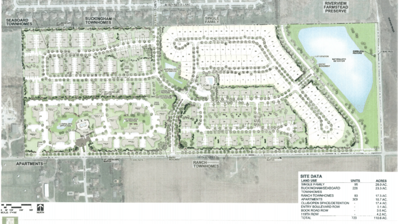 This proposed development is not consistent with the current subdivisions that exist in the surrounding area. The existing subdivisions are low to medium density single family homes.  This proposal is for high density multi-family homes. DR Horton claims that this proposal is contiguous to South Pointe homes and will be a gradual transition to the multi-family residential units on this new property. These multi-family homes are not complementary nor comparable to the South Pointe homes, nor to the homes of Wolf Creek/Sterling Estates that will be right across the street.